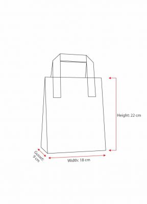 Cream Carrier Bags With External Taped Handles SOS