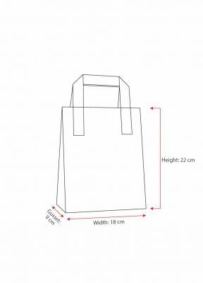 Dark Green Bags With External Taped Handles SOS