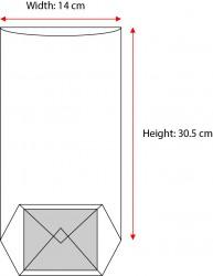 Large Orange Window Bag - Thumbnail