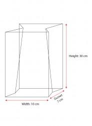 Large Silver Strips Bag - Thumbnail