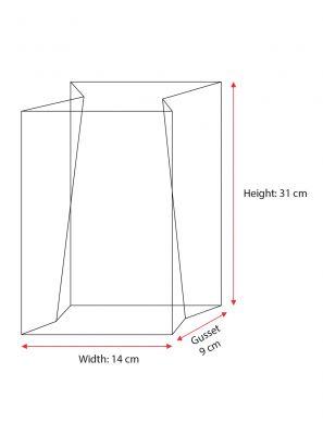 Large Unprinted Bag Paper Patch