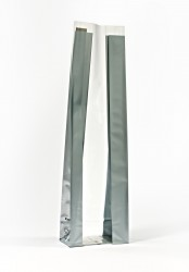 Medium Silver Bold Strips Bag - Thumbnail
