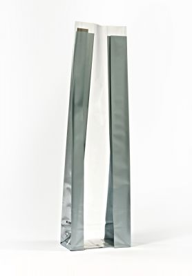 Medium Silver Bold Strips Bag