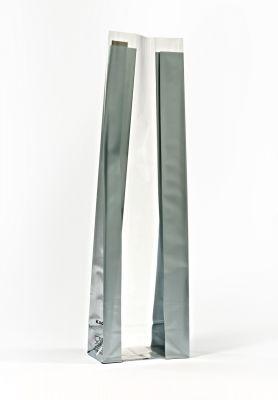 Medium Silver Bold Strips Bag