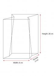 Medium Silver Bold Strips Bag - Thumbnail