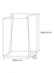 Medium Silver Strips Bag - Thumbnail
