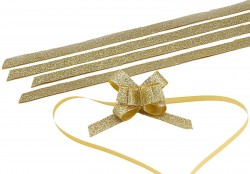 - Medium Silvery Gold Pull Bow