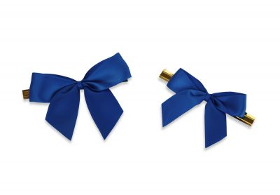 Small Blue Ribbons With Ties