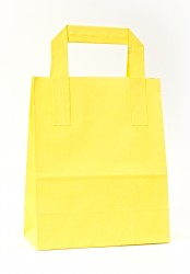 - Yellow Carrier Bags With External Taped Handles SOS