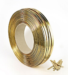 - Bright Gold Tin Ties (600 BOBIN)