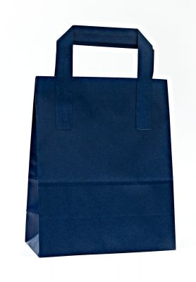 Dark Blue Carrier Bags With External Taped Handles SOS