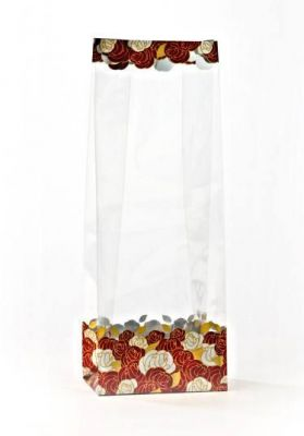 Gold Flower Garden Metalized Printed Small Bags