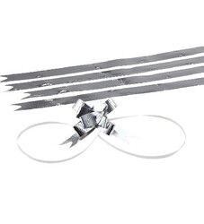 - Large Bright Silver Pull Bow
