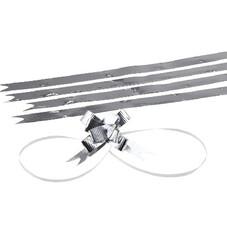 - Medium Bright Silver Pull Bow