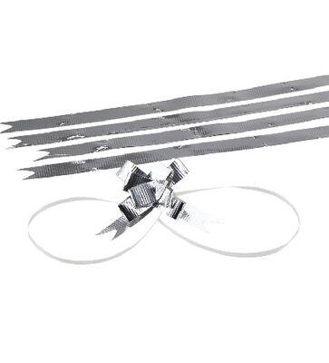 Medium Bright Silver Pull Bow