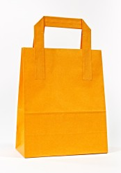 - Orange Carrier Bags With External Taped Handles SOS
