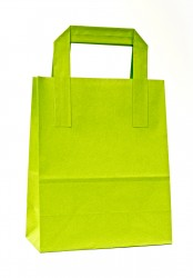 - Pistachio Green Paper Carrier Bags With External Taped Handles SOS