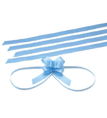 Small Blue Pull Bow