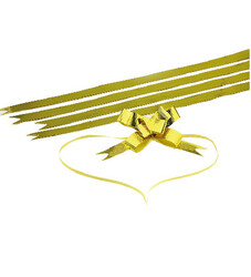 - Small Bright Gold Strips Pull Bow