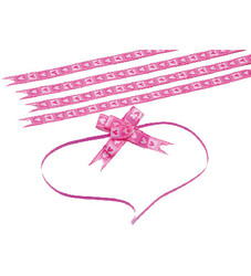 - Small Pink Hearts Pull Bow