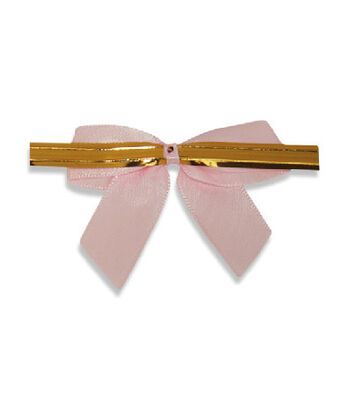 Small Pink Ribbons With Ties