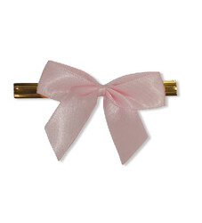 - Small Pink Ribbons With Ties