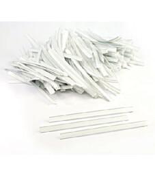 - White Tin Ties (12 cm)