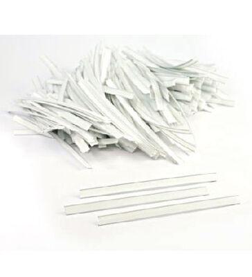 White Tin Ties (12 cm)